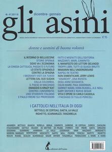 Gli asini. Rivista di educazione e intervento sociale (2017). Vol. 46-47: Donne e uomini di buona volontà (Dicembre-Gennaio).