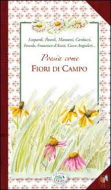 Poesia come fiori di campo - copertina