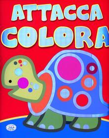 Mercatinidinataletorino.it Attacca, colora. 1-2 anni. Ediz. illustrata. Con gadget Image