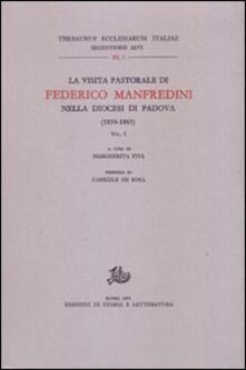 La Visita pastorale di Federico Manfredini nella diocesi di Padova (1859-1865) - copertina
