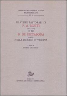 Le visite pastorali di Pietro Aurelio Mutti (1842-1846) e Benedetto De Riccabona (1858) nella diocesi di Verona - copertina
