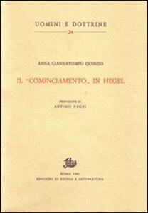 Il «cominciamento» in Hegel