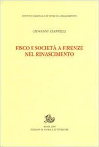 Fisco e società a Firenze nel Rinascimento