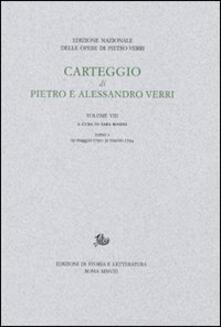 Carteggio di Pietro e Alessandro Verri - copertina
