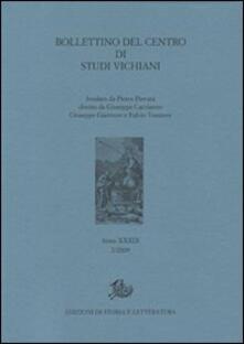 Bollettino del Centro di studi vichiani (2009). Vol. 2 - copertina