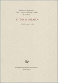 Storia di Milano - Pietro Verri - copertina