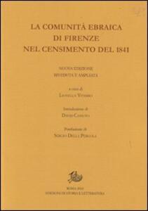 La comunità ebraica di Firenze nel censimento del 1841