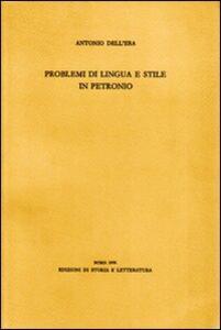 Problemi di lingua e stile in Petronio