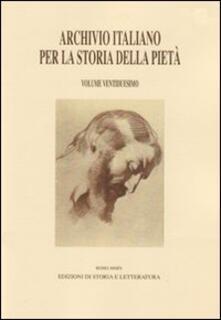 Ipabsantonioabatetrino.it Archivio italiano per la storia della pietà. Vol. 22 Image