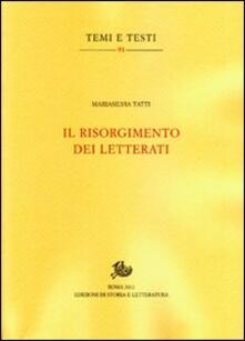 Il Risorgimento dei letterati - M. Silvia Tatti - copertina