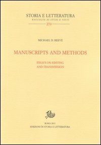 Manuscripts and methods. Essays on editing and trasmission