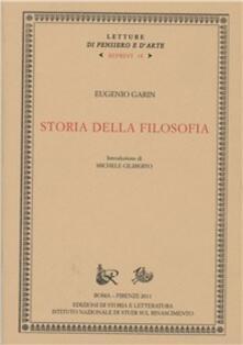 Storia della filosofia - Eugenio Garin - copertina