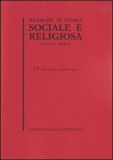 Rallydeicolliscaligeri.it Ricerche di storia sociale e religiosa. Vol. 79 Image