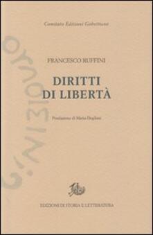 Diritti di libertà - Francesco Ruffini - copertina