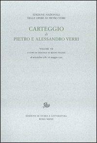 Carteggio di Pietro e Alessandro Verri. Vol. 7