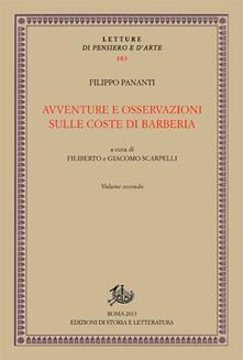 Avventure e osservazioni sulle coste di Barberia. Vol. 2 - Filippo Pananti - copertina