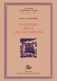 Inventario della casa di campagna - Piero Calamandrei - copertina
