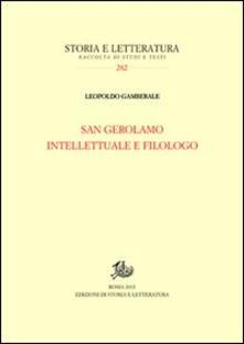 San Gerolamo intellettuale e filologo - Leopoldo Gamberale - copertina