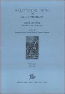 Antondemarirreguera.es Bollettino del Centro di studi vichiani (2012) vol. 1-2 Image