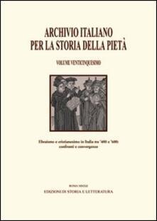 Archivio italiano per la storia della pietà. Vol. 25 - copertina
