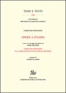 Opere a stampa - Christian Francken - copertina