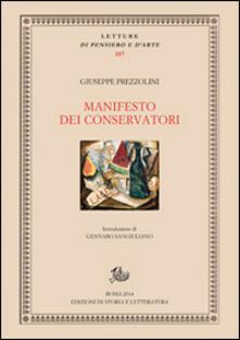Ristorantezintonio.it Manifesto dei conservatori Image
