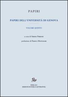 Papiri dell'Università di Genova. Vol. 5 - copertina