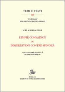L' Impie convaincu ou dissertation contre Spinoza - Noël Aubert de Versé - copertina