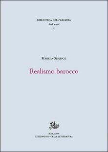Realismo barocco - Roberto Gigliucci - copertina