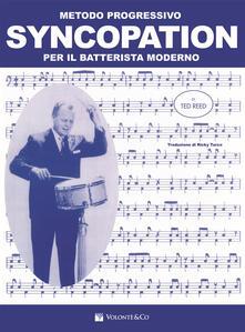 Promoartpalermo.it Syncopation. Metodo progressivo per il batterista moderno Image