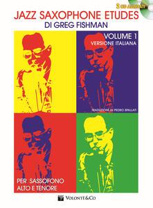 Warholgenova.it Jazz saxophone etudes. Con 2 CD Audio. Vol. 1 Image