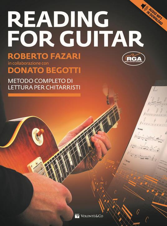 Reading for guitar. Metodo completo di lettura per chitarristi. Con file audio per il download. Con CD-Audio - Roberto Fazari,Donato Begotti - copertina