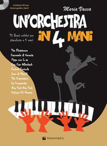 Nordestcaffeisola.it Un' orchestra in 4 mani. 10 brani celebri per pianoforte a 4 mani. Partitura per pianoforte. Con CD-Audio Image