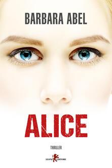 Alice - Barbara Abel - copertina