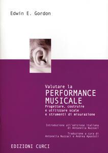 Valutare la performance musicale - Edwin E. Gordon - copertina
