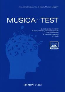 Winniearcher.com MusicainTest. Quiz ed esercizi per i corsi di teoria, ritmica e percezione musicale e per l'ammissione al triennio accademico di I livello Image