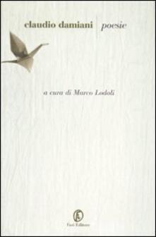 Poesie - Claudio Damiani - copertina