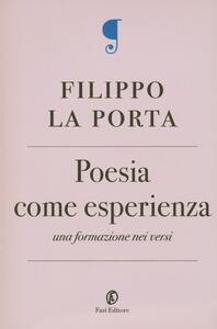 Poesia come esperienza. Una formazione nei versi