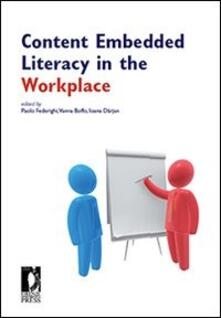 Content Embedded Literacy in the Workplace