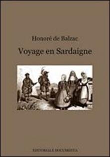 Voyage en Sardaigne. Ediz. italiana - Honoré de Balzac - copertina