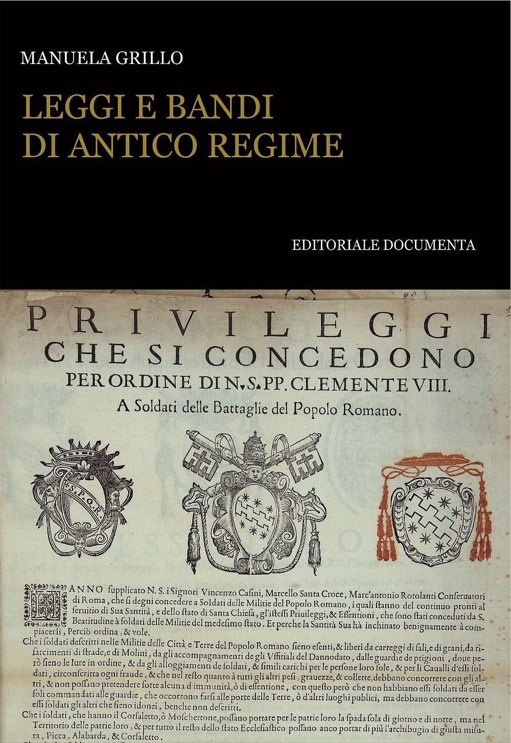 Leggi e bandi di antico regime