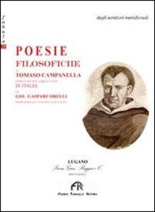 Poesie filosofiche di Tommaso Campanella