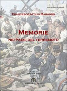 Memorie nei paesi del terremoto - Francesco A. Marando - copertina