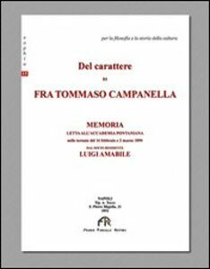 Del carattere di fra Tommaso Campanella