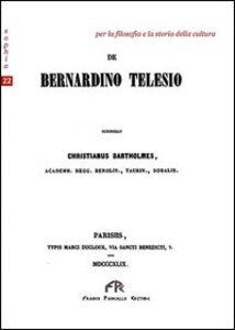 De Bernardino Telesio. Testo latino