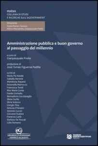 Amministrazione pubblica e buon governo al passaggio del millennio