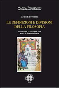 Le definizioni e divisioni della filosofia. Ediz. italiana e armena