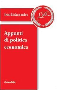 Appunti di politica economica