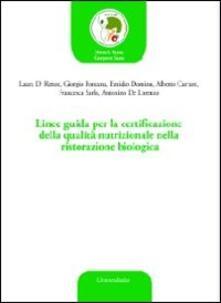 Vitalitart.it Linee guida per la certificazione della qualità nutrizionale nella ristorazione biologica Image