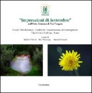 «Impressioni di settembre» nell'orto botanico di Tor Vergata